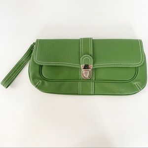 Matrix Wristlet Clutch With Silver Toned Hardware